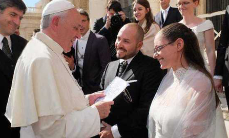 Caricatura da Papa Francesco