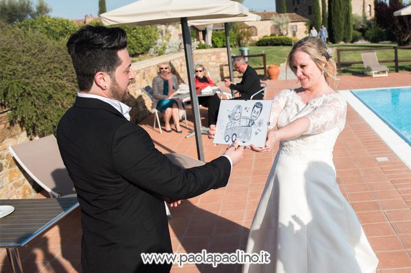 Caricatura regalo dalla sposa per lo sposo
