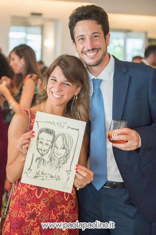 Caricatura ospiti matrimonio