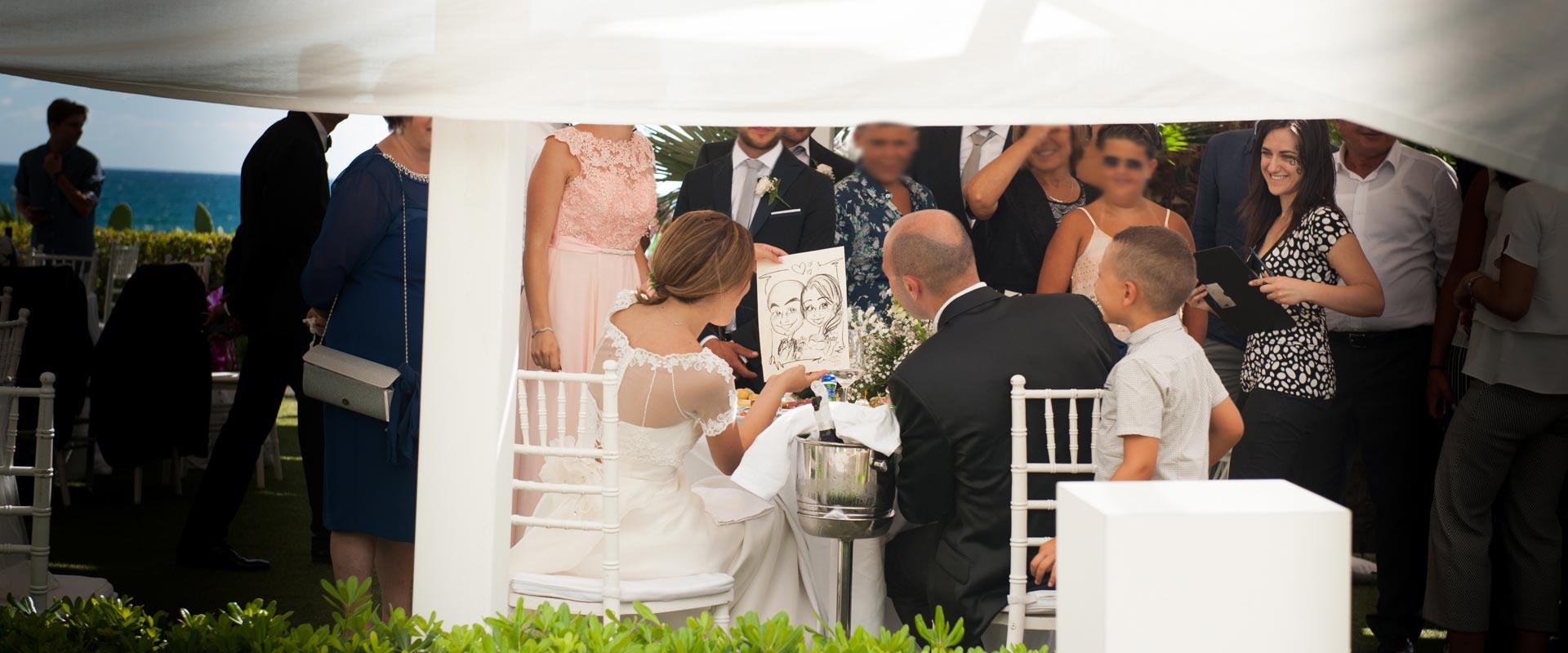 Caricaturista matrimoni gaeta