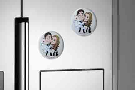 Magneti con caricatura per frigorifero