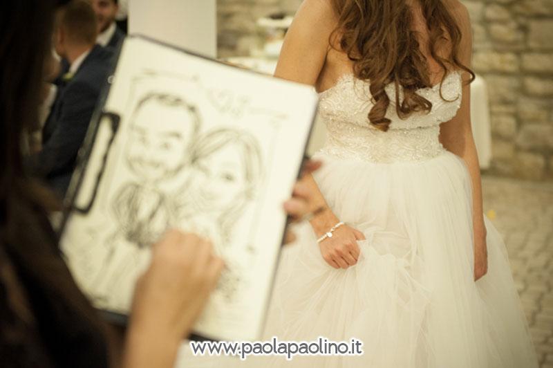 Realizzazione caricatura agli sposi