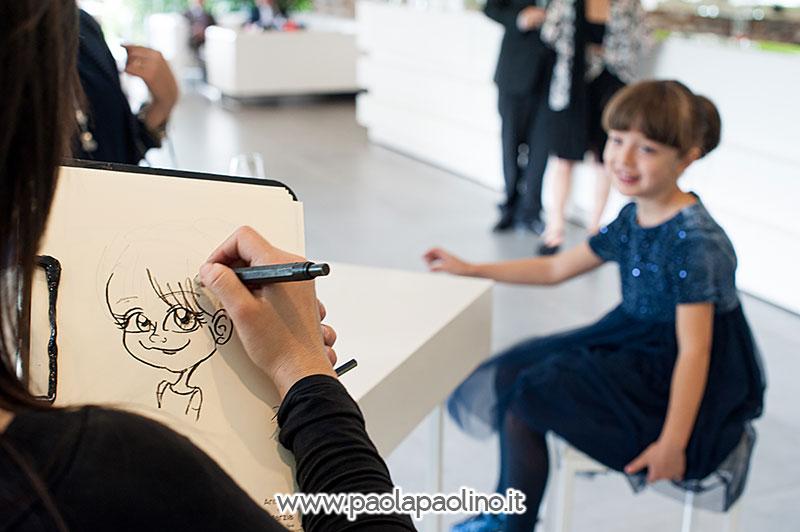 Realizzazione caricatura di una bambina