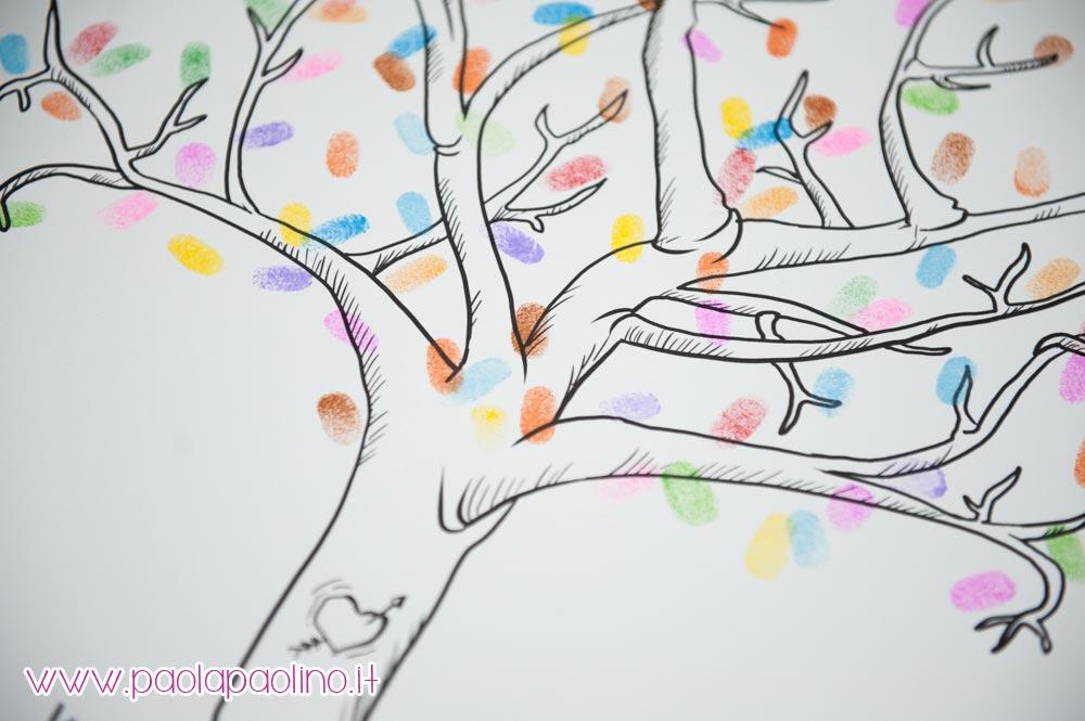 Albero con impronte guestbook impronte ospiti matrimonio