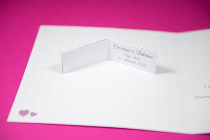 Bigliettini bomboniera abbinata a partecipazione matrimonio