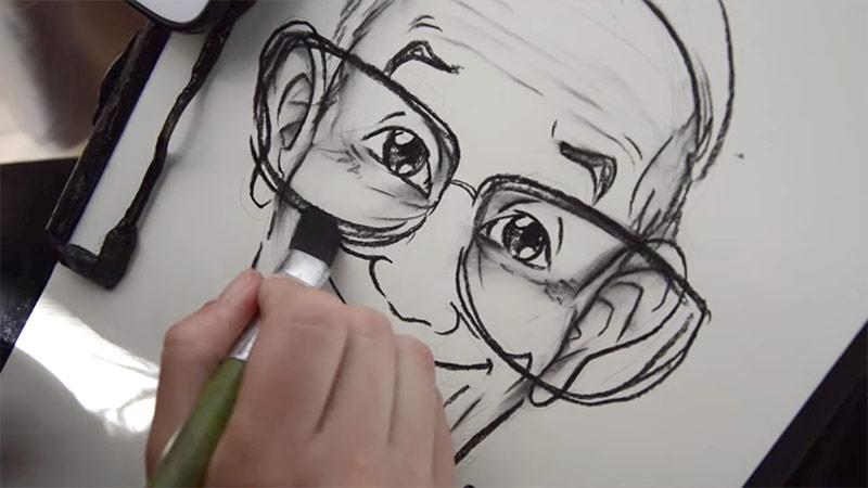 Caricatura di Papa Francesco