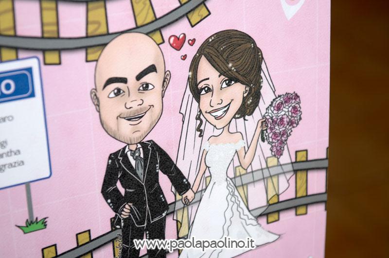 Caricatura sposi per tableau de mariage