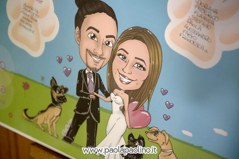 Caricatura su tableau de mariage