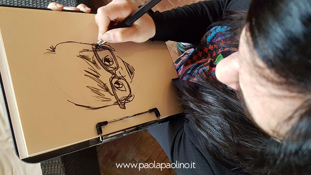 Caricaturista matrimonio a roma