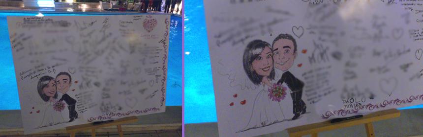 Guestbook matrimonio con le firme degli ospiti
