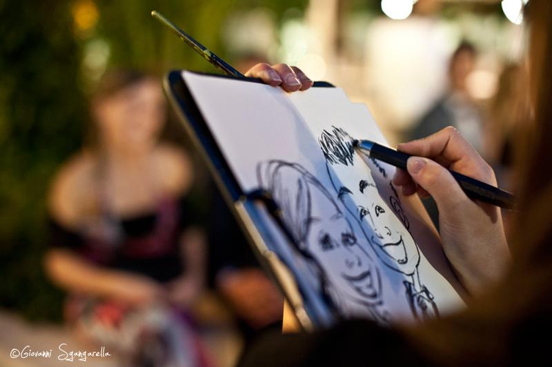 Caricatura dal vivo
