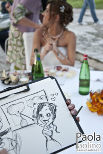 Caricatura sposa
