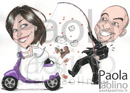 Sposo pesca la sposa