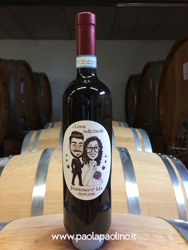 Caricatura per etichetta vino