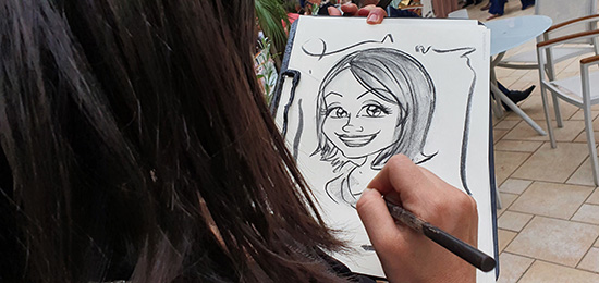 Caricature in carboncino
