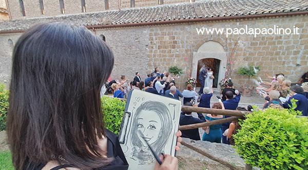 Caricaturista a Roma, caricature realizzate dal vivo nelle location romane