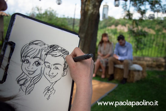Caricaturista borgo di tragliata a Roma