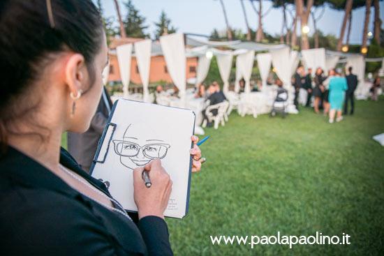 Caricaturista a Villa Appia Eventi a Roma